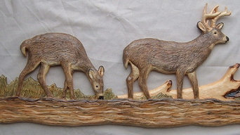 Whitetail Deer Chainsaw Wood Carving Wall Art Cabin Decor Hunting Sculpture