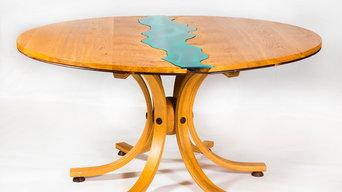 "Irish Oak ""River 2"" Dining Table"