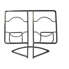 Benzara Modern Design Metal Cook book Holder, Silver