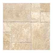 Turkish Tuscany Beige Travertine Versailles Patterns, Tumbled, Travertine