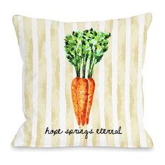"""""""Hope Springs Eternal"""" Indoor Throw Pillow by OneBellaCasa, 18""""x18"""""""