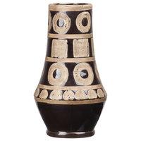 Ceramic Vase, Gloss Rough Finish, Black