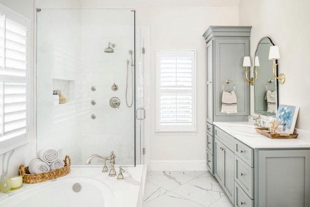 Transitional Bathroom by Delphinium Design