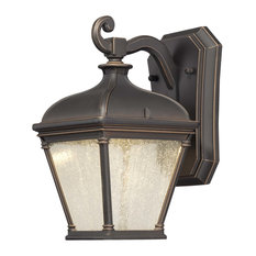 """The Great Outdoors 72391-143C 1 Light 10""""H LED Outdoor Wall - Bronze"""