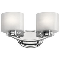 Archer Two Light Bath Vanity Chrome Clear/Frit Glass