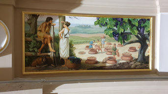 Roman winemaking mural