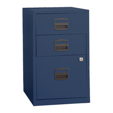 ... Steel Home or Office Filing Cabinet, Navy Blue - Filing Cabinets