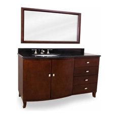 Lyn Design Mahogany Modern 47 X 35 Mahogany Vanity