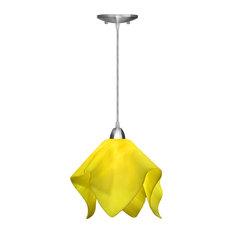 Jezebel Radiance Flame Large Pendant, Canary Yellow