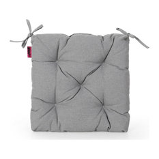Sylvia Indoor Fabric Classic Tufted Chair Cushion, Charcoal