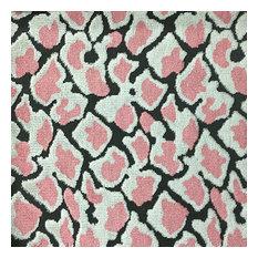 Hendrix Leopard Cut Velvet Upholstery Fabric, Coral