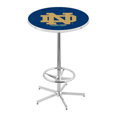 L216 - 42-inch Chrome Notre Dame (ND) Pub Table By Holland Bar Stool Co.