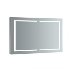 "Spazio 48""x30"" Bathroom Medicine Cabinet With LED Lighting and Defogger"