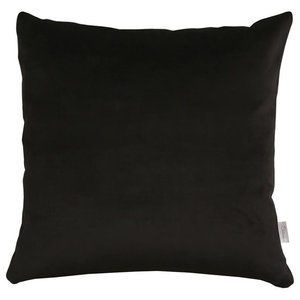 A.U. Maison Black Velvet Silk Cushion Cover, 70x70 cm