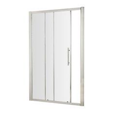 Apex Sliding Shower Door, Polished Chrome, 119x190 cm