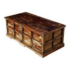 sierra living concepts beaufort steamer storage trunk rustic coffee table chest decorative trunks
