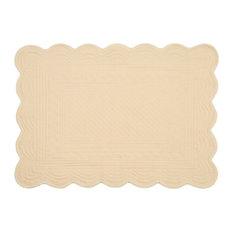 Embroidered Cotton Placemat, Blush