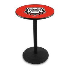 Georgia -inchBulldog-inch Pub Table 28-inchx42-inch