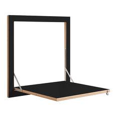 Fläpps Birch Plywood Kitchen Table, Black