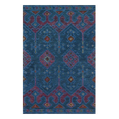 """Blue and Purple, Gemology Area Rug by Justina x Loloi, 7'9""""x9'9"""""""