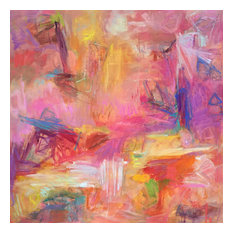 """""""Hiking Zion"""" Original Abstract Painting by Trixie Pitts, 48""""x48"""""""