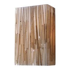 Modern Organics 2 Light Sconce Bamboo Stem Material Polished Chrome