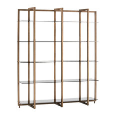 Bronze Wall Shelf With Smoked Glass Shelves