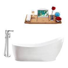 """Tub, Faucet and Tray Set Streamline 68"""" Freestanding MH2140-120"""