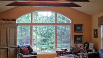 Katonah Family Room-Faux wood beams, door and room paint