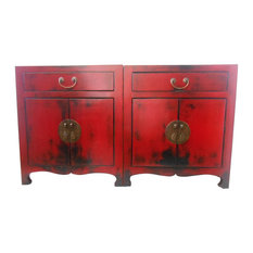 Attrayant China Red Lacquer Entertainment Cabinet