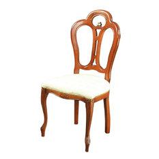 Consigned Large Italian New Rococo Chair  Mahogany
