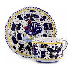 Cup and Saucer Deruta Majolica Orvieto