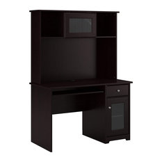 Modern Desk With Hutch, Open Shelves and Cabinets, Great for Space Saving, Harve