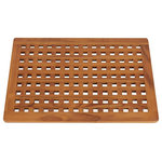 Zen Paradise - Santa Barbara Teak Shower and Bath Mat - Solid teak door / bath mat crafted with a traditional seafarer design that will welcome you into your home, shower or outdoor environment w/ style.