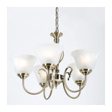 Carina 5 Light Antique Brass Chandelier