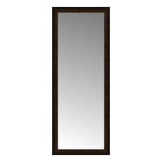 "24""x60"" Custom Framed Mirror, Dark Bronze"