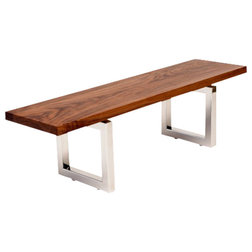 Contemporary Dining Benches Walnut Bench