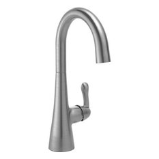 Delta 1.5 GPM Single Lever Handle 1-Hole Bar Faucet, Arctic Stainless