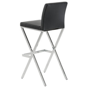 Awesome Vega Contemporary 30 Bar Height Barstool Brushed Stainless Unemploymentrelief Wooden Chair Designs For Living Room Unemploymentrelieforg