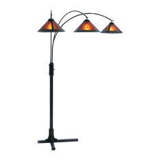 Mica 3-Light Arc Lamp Floor Lighting Living Room Perfect Behind Sofa