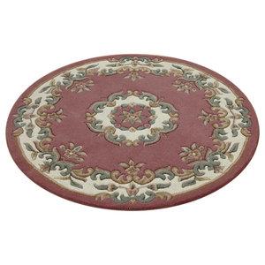 Mahal Round Rug, Rose Pink, 120 cm Round