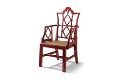 Red Openwork Chair