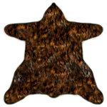 Fur Accents - Premium Faux Fur American Bear Skin Area Rug Soft Plush Realistic Brown Shag, 6' - American Bear Skin Faux Fur Area Rug