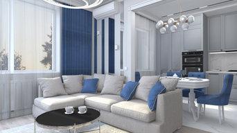 Дизайн-проект двухкомнатной квартиры в г. Калининграде