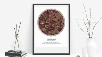 CAPRICORN Zodiac Constellation Poster - Abstract Modern Art Gallery Quality Gicl