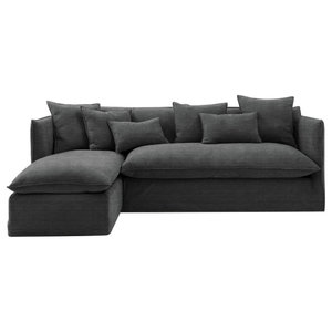 Sophie Chaise Sofa Bed, Slate, 1.5 Seater, Left Hand Facing, 113x186 cm