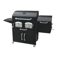 Bravo Premium Charcoal Grill with offset smoker