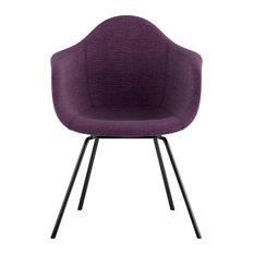Mid Century Classroom Arm Chair, Plum Purple