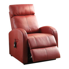 Recliner With Power Lift Red