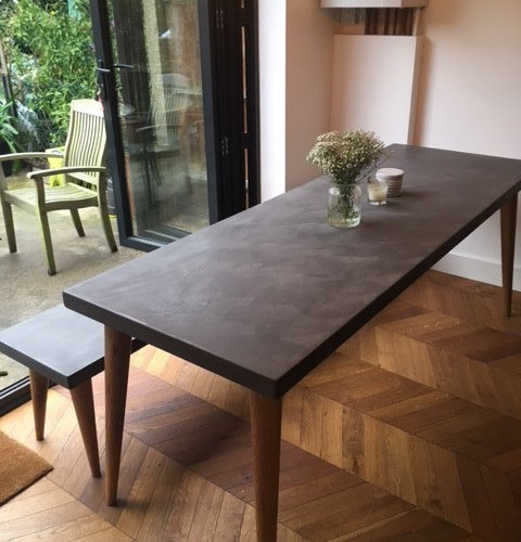 Polished Concrete Table and Bench - Products